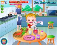 Baby Hazel Estômago Cuidado